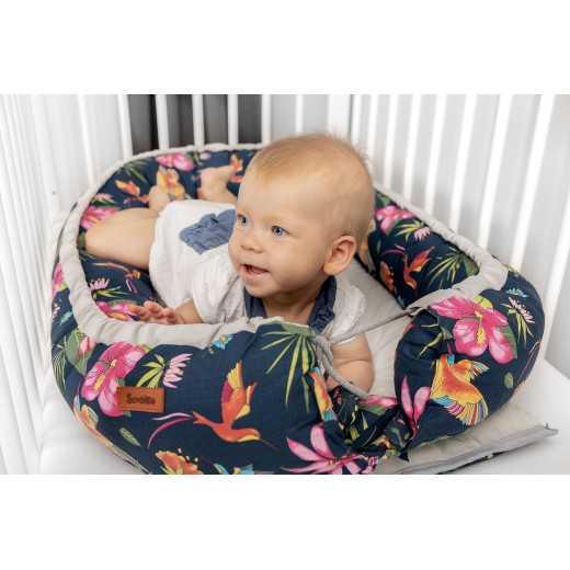 Lizdelis kūdikiui FLOWERS GREY Sensillo